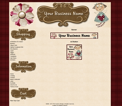 Whimsical Angel of Love Webset or Template-