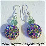 polymer clay and tourmaline earrings