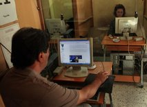 Iraqi people surf the internet for the WikiLeaks web site in Baghdad, Iraq, Saturday, Oct. 23, 2010. Military documents laid bare in the biggest leak