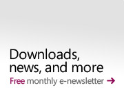 Downloads, news, and more: Sign up for our free monthly e-newsletter