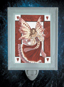 Hearts Fairy porcelain nightlight by Amy Brown