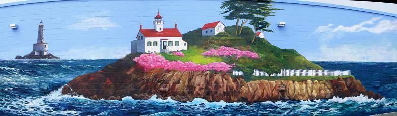 Hwy 101 Lighthouse mural