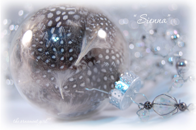 Sienna Glass Christmas Ornament
