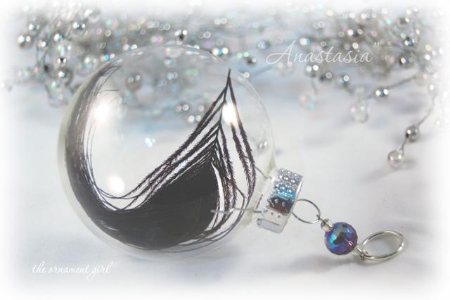 Anastasia Glass Christmas Ornament