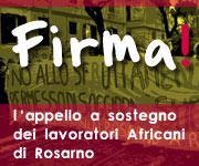 firma l'appello per i lavoratori Africani di Rosarno!