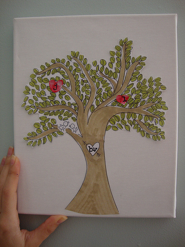 family tree hearts