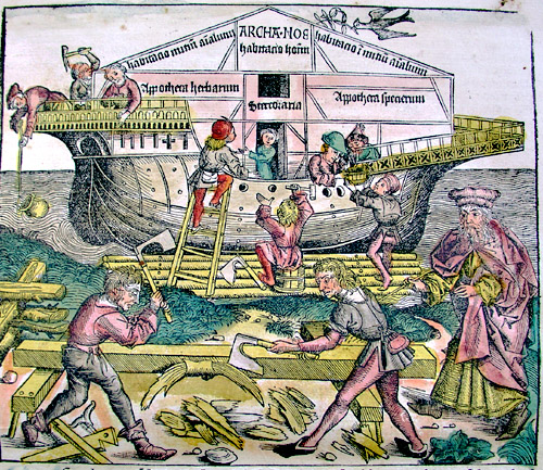 Noah's Ark from The Nuremberg Chronicle by Hartmann Schedel (1440-1514)