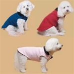 Animal Wrappers Polar Fleece Reversible Dog Coat Blue Size 10