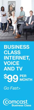 Comcast Business Class -- Business Class Internet, Voice and TV -- $99 Per Month -- Go Fast >