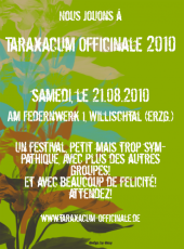 21/08/10 - Taraxacum @ Willischtal (unofficial diy flyer (by dny) - IN FRENCH!!!)