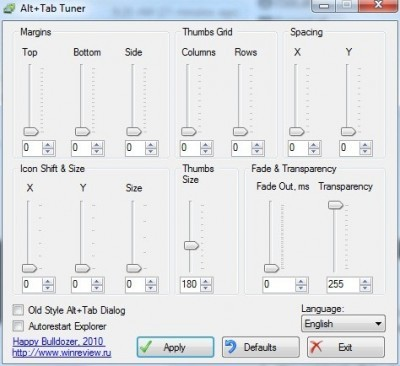 Alt+Tab Tuner For Change Aero Flip Setting in Windows on Pc Tips Box