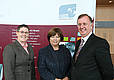 Dr Teresa Maguire (HRB), Minister Mary Harney, Mr Enda Connolly (CEO HRB)
