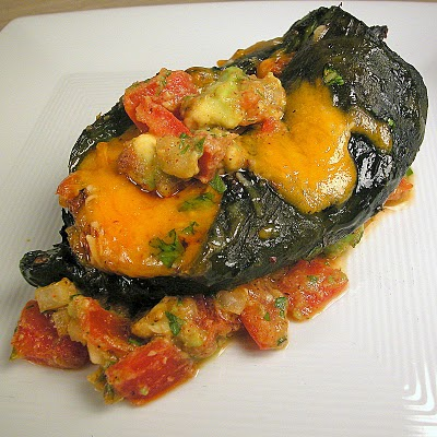 Recipe: Chiles Rellenos with Tomato-and-Avocado Salsa