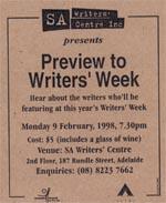 Writers' Week Ad