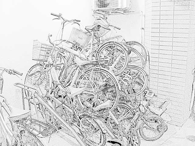 A Pile of Bicycles