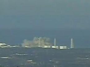 实拍福岛核电站再爆炸