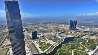 A view of Central Park, in Songdo, South Korea
