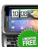 3 Months Free! HTC Desire Z