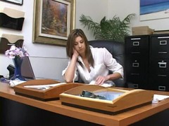 this young secretary slut, has great skills in dicktation. watch her please her boss in the middle of the day, as she sucks on his horny cock and ball...