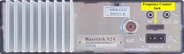 Magnum Maverick A24 10 Meter Radio Rear View.