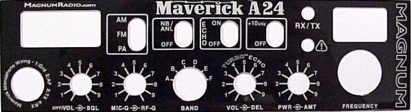 Magnum Maverick A24 10 Meter Radio Optional Front Panel.