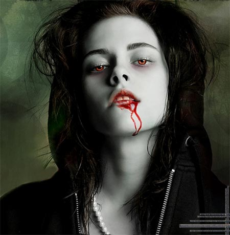 Kristen Stewart como Bella Swan estilo vampiro