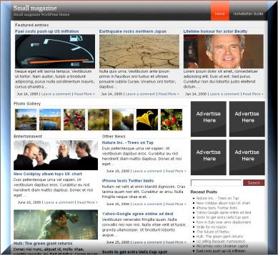 Small Magazine Magazine WordPress Theme