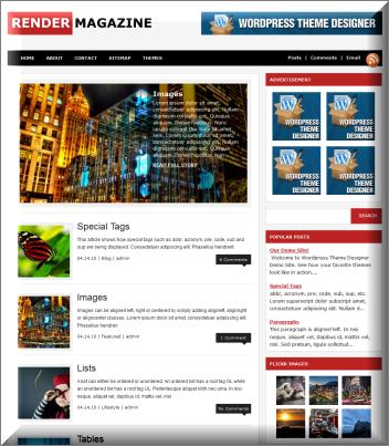 Render Magazine WordPress Theme