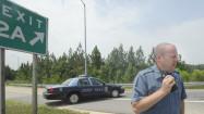 Speed enforcement vehicle attacked