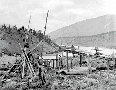 BC Archives # E-01938, Indian Cemetery at Lytton, 1860s, ph. Maynard