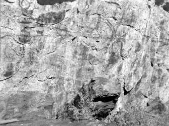 BC Archives # E-05606, Indian Carvings on Rocks, Lillooet 1930s