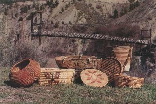 Stll'atl'imx Indian Baskets, photo: local postcard