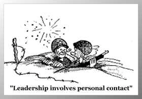 cartoon leadership involves personal contact