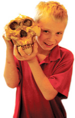 boy and skull picture