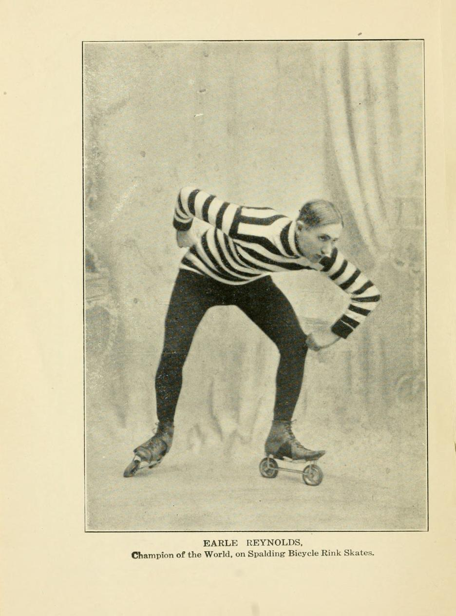 Earle Reynolds, champion skater. From Spalding's Roller Skating Guide (New York, 1906).