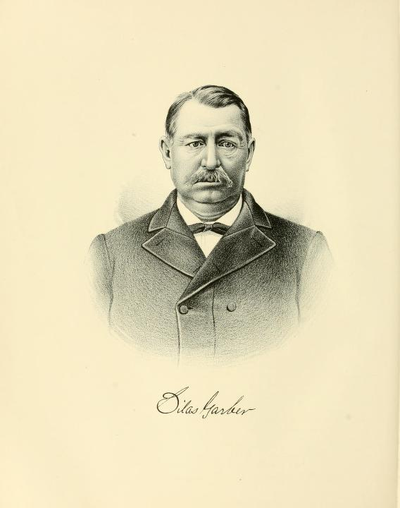 Governor Silas Garber. From Portrait and Biographical Album of Otoe and Cass Counties, Nebraska (Chicago, 1889)