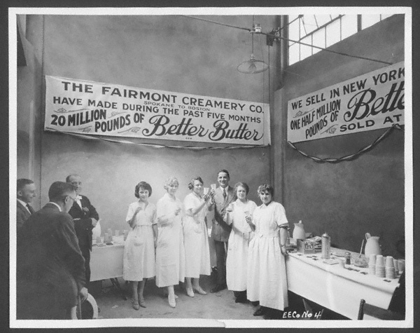 A 1921 exhibit for Better Butter, made by the Fairmont Creamery Company. NSHS RG4218.PH:1-10