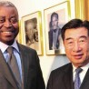 Chinese Vice Premier Hui Liangyu with Adolphe Muzito, prime minister of DR Congo