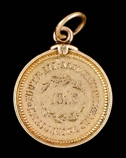 The gold winner's medal from the inaugural Football Association Challenge Cup final of 1872, estimated at £30,000-50,000 at Graham Budd's sale.