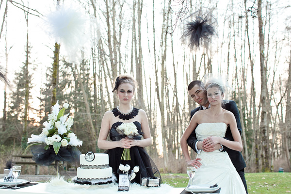 Old, Borrowed & Blue - black swan inspired wedding photoshoot 18