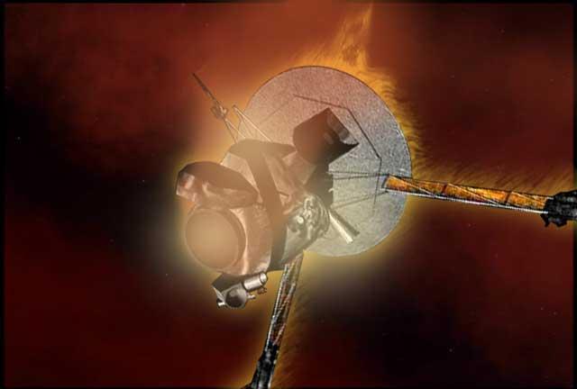 Artist's concept of Galileo approaching Jupiter, NASA artwork Source: Wayback Machine galileo-endofmission-browse.jpg