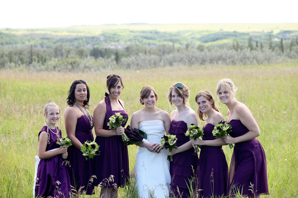 Triathlete Wedding in Calgary : Unique and Awesome Wedding - calgary modern wedding green purple 12