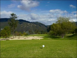 Guaymaral golf course in the north of Bogotá.