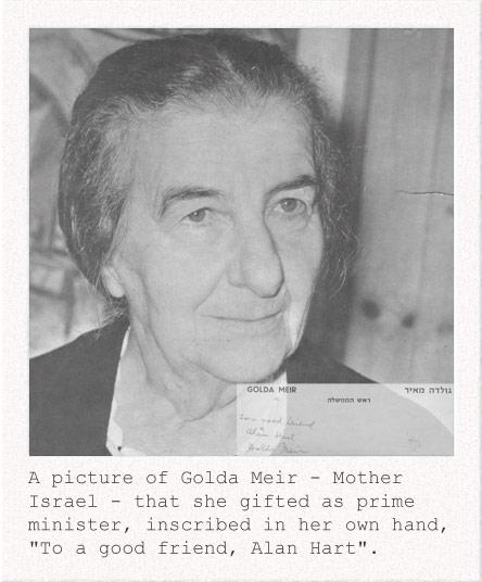 Photograph of Golda Meir, autographed to Alan Hart as her 'good friend' source alanhart.net
