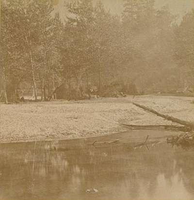 1571 Yosemite Paiute encampment along Merced River