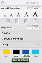 Nook for iPhone: Settings