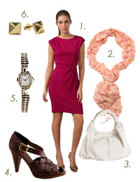 What to Wear to Work: Loving this magenta DVF dress