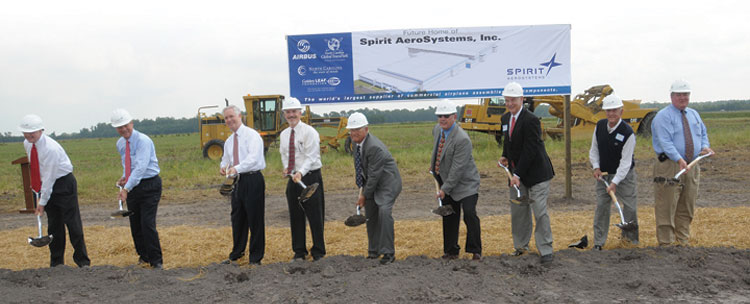 Groundbreaking for Spirit AeroSystems' Kinston facility