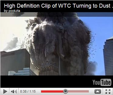 High Definition Clip of WTC Turning to Dust on 9/11 (Super Slow Motion)