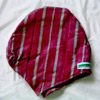 """Abeti Aja"" style hat: Alaari (Wine colored with white or/and black stripes)"